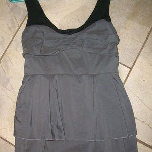 Forever 21 Gray Sleeveless Mini Dress M